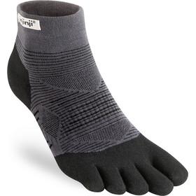 Injinji Run Lightweight Mini Crew Socks Men, zwart/grijs